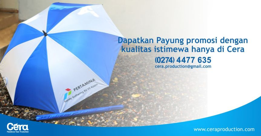 Souvenir Payung Promosi, Alternatif Souvenir Kantor yang murah dimusimhujan