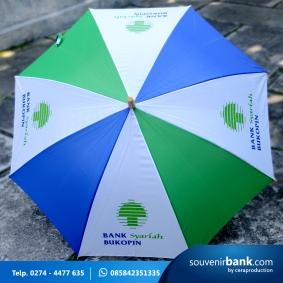 souvenir bank - souvenir payung promosi milik bank bukopin syariah