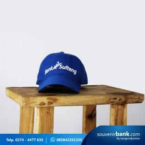 souvenir bank - souvenir topi bank sulteng