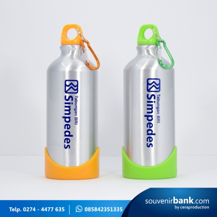 souvenir bank - souvenir tumbler indigo milik bank BRI
