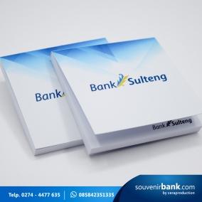 souvenir bank - stickynote milik bank sulteng