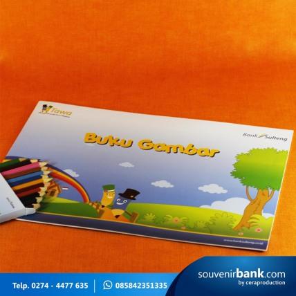 souvenir perbankan - souvenir buku gambar milik bank sulteng