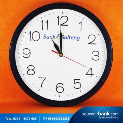 souvenir perbankan - souvenir jam dinding milik bank sulteng